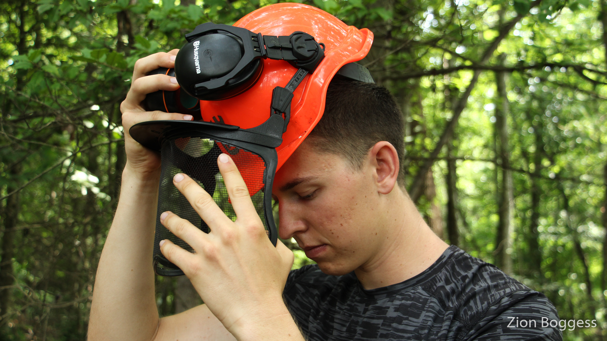 Chainsaw PPE's helmet
